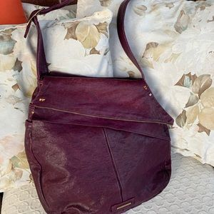 Jack Rabbit Genuine Leather Purple Crossbody Bag